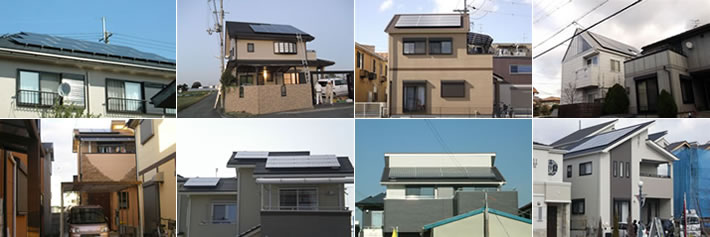 太陽光発電の工事例